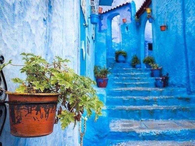 شهر آبی، معمای مراکش